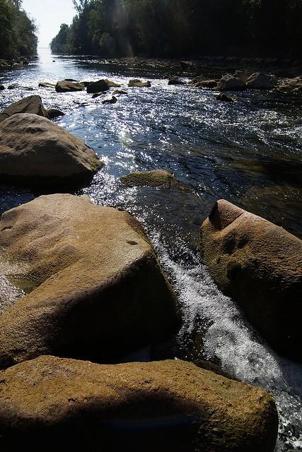 Mündung in den Obersee
