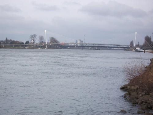 Angeln an der Europa Brücke